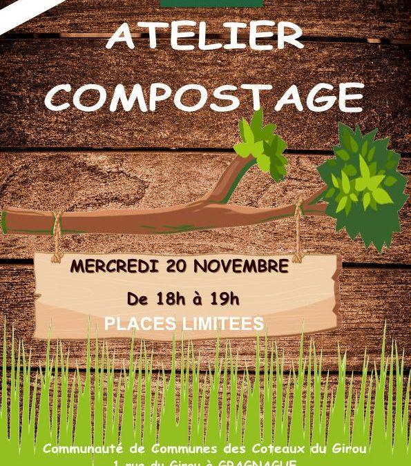 Semaine Européenne de la réduction des Déchets : Participez à l'atelier compostage le mercredi 20 novembre